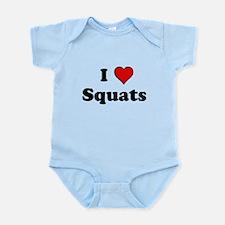 I Heart Squats Body Suit