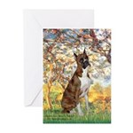 Spring with a Boxer Greeting Cards (Pk of 10)
