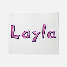 Layla Pink Giraffe Throw Blanket
