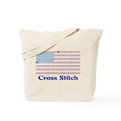 USA - Cross Stitch Tote Bag