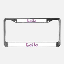 Laila Pink Giraffe License Plate Frame