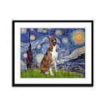 Starry / Boxer Framed Panel Print