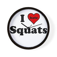 I Heart (hate) Squats Wall Clock