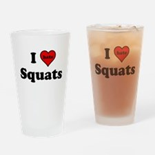 I Heart (hate) Squats Drinking Glass