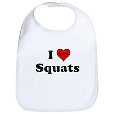 I Heart (hate) Squats Bib