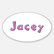 Jacey Pink Giraffe Oval Decal