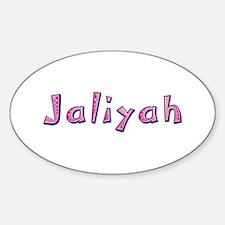 Jaliyah Pink Giraffe Oval Decal
