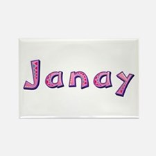 Janay Pink Giraffe Rectangle Magnet