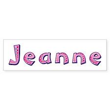 Jeanne Pink Giraffe Bumper Bumper Sticker