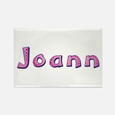 Joann Pink Giraffe Rectangle Magnet