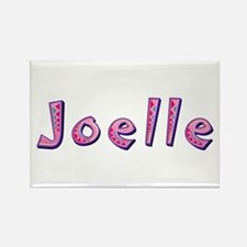 Joelle Pink Giraffe Rectangle Magnet