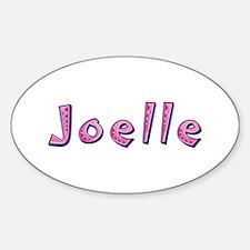 Joelle Pink Giraffe Oval Decal
