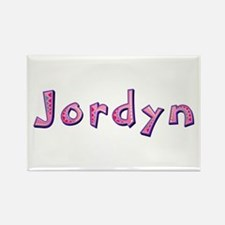 Jordyn Pink Giraffe Rectangle Magnet