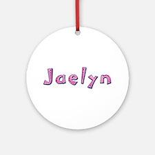 Jaelyn Pink Giraffe Round Ornament