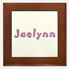 Jaelynn Pink Giraffe Framed Tile