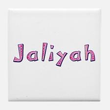 Jaliyah Pink Giraffe Tile Coaster