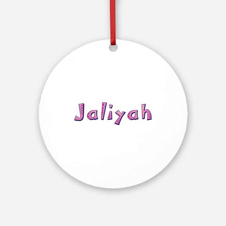 Jaliyah Pink Giraffe Round Ornament