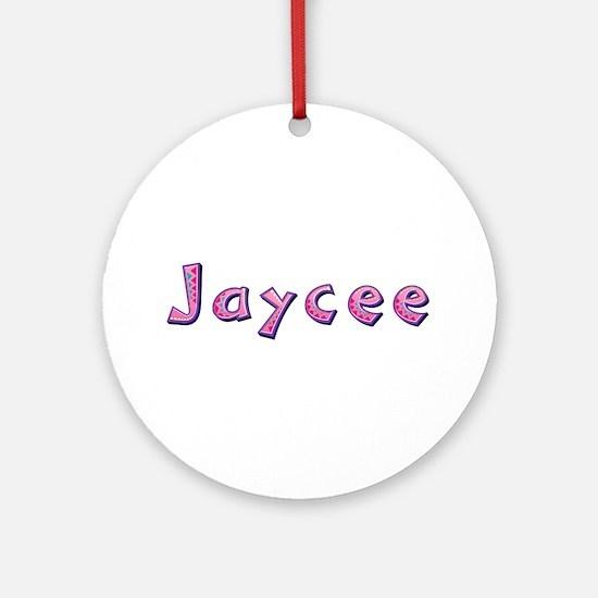 Jaycee Pink Giraffe Round Ornament