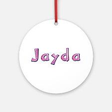 Jayda Pink Giraffe Round Ornament