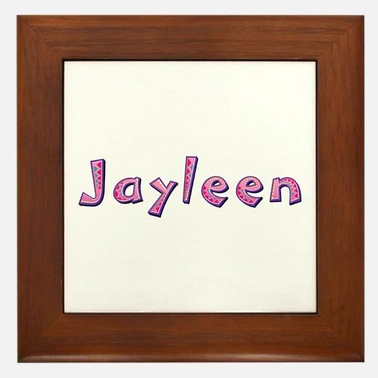 Jayleen Pink Giraffe Framed Tile