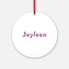 Jayleen Pink Giraffe Round Ornament