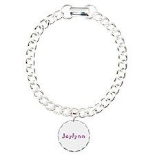 Jaylynn Pink Giraffe Charm Bracelet