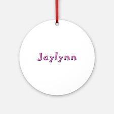 Jaylynn Pink Giraffe Round Ornament