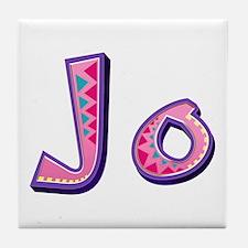 Jo Pink Giraffe Tile Coaster