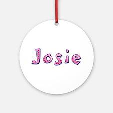 Josie Pink Giraffe Round Ornament