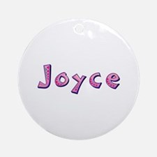 Joyce Pink Giraffe Round Ornament