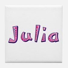 Julia Pink Giraffe Tile Coaster