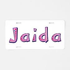 Jaida Pink Giraffe Aluminum License Plate