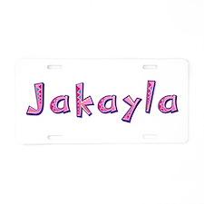 Jakayla Pink Giraffe Aluminum License Plate