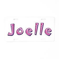 Joelle Pink Giraffe Aluminum License Plate