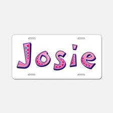 Josie Pink Giraffe Aluminum License Plate