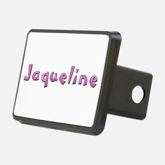 Jaqueline Pink Giraffe Hitch Cover