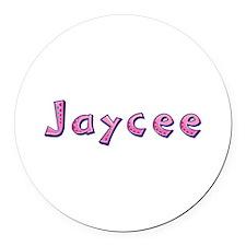Jaycee Pink Giraffe Round Car Magnet