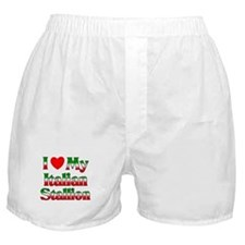 I Love My Italian Stallion Boxer Shorts