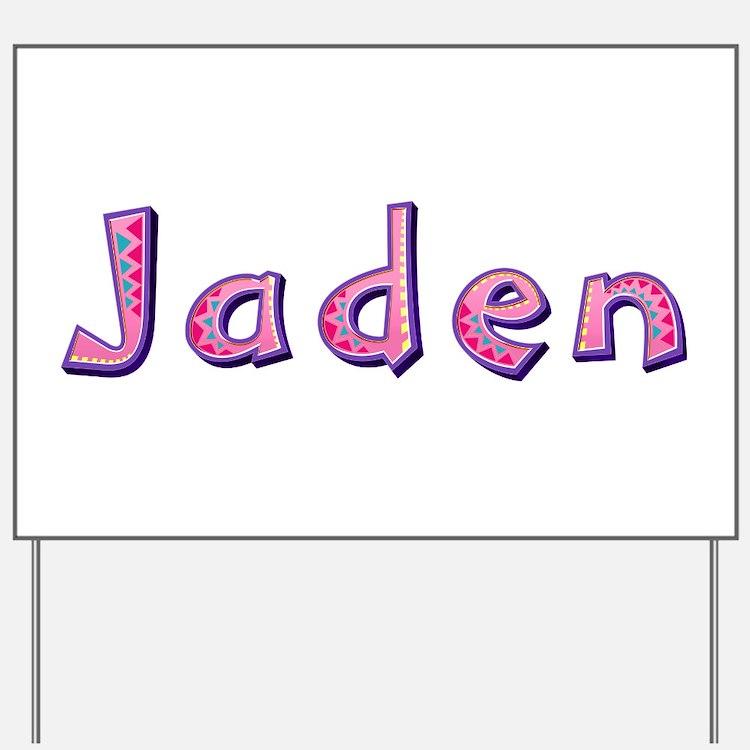 Jaden Pink Giraffe Yard Sign
