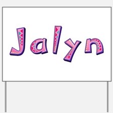 Jalyn Pink Giraffe Yard Sign