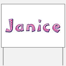 Janice Pink Giraffe Yard Sign