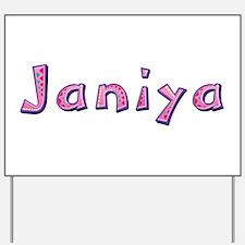 Janiya Pink Giraffe Yard Sign
