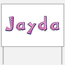 Jayda Pink Giraffe Yard Sign