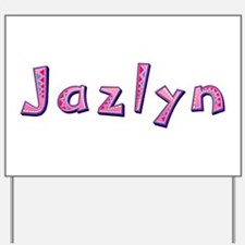 Jazlyn Pink Giraffe Yard Sign