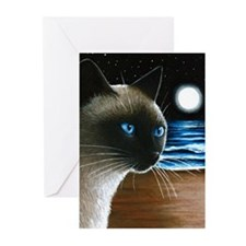 Cat 396 siamese Greeting Cards