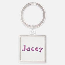 Jacey Pink Giraffe Square Keychain