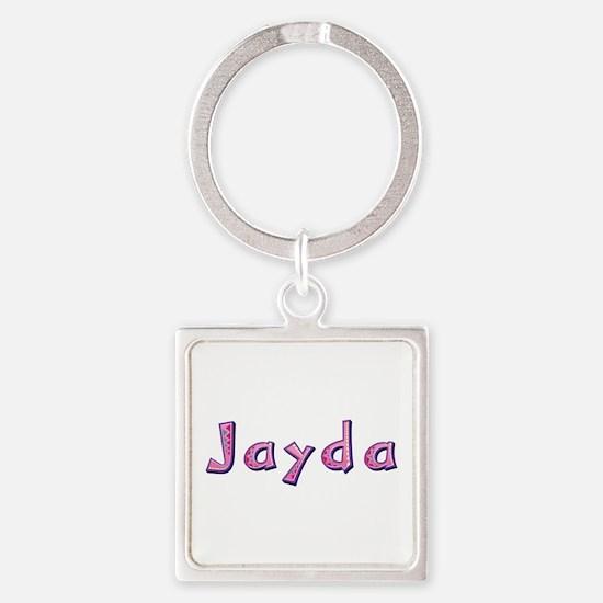 Jayda Pink Giraffe Square Keychain