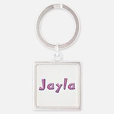 Jayla Pink Giraffe Square Keychain