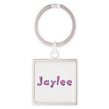 Jaylee Pink Giraffe Square Keychain