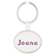 Joana Pink Giraffe Oval Keychain